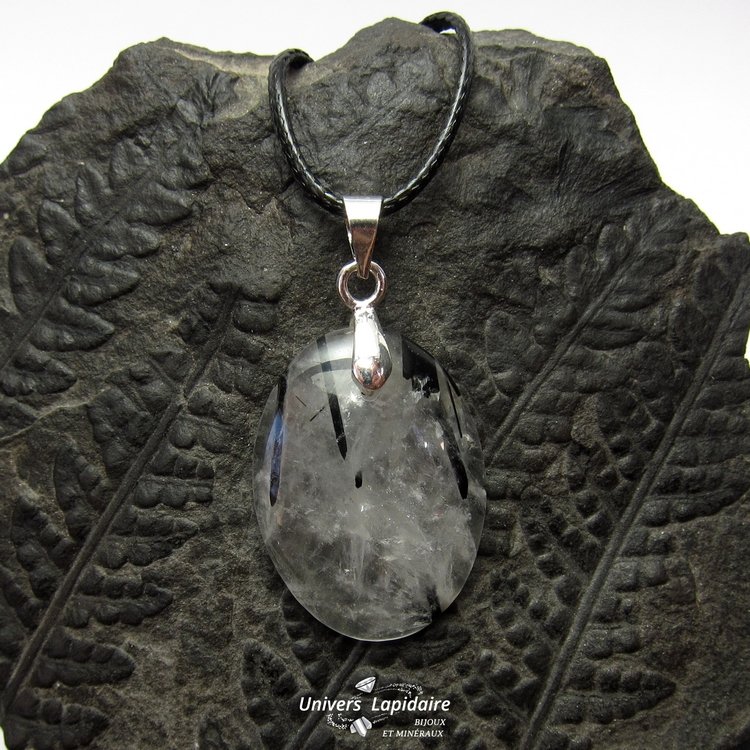 collier quartz tourmaline
