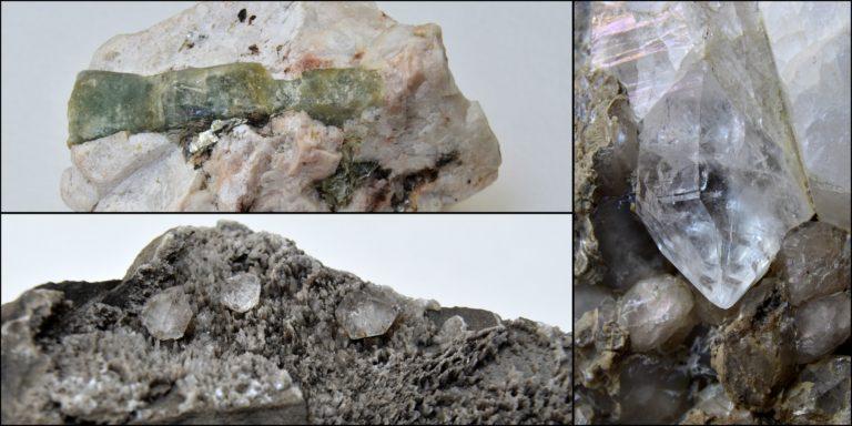 Pierres brutes cristalisées