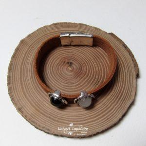 Bracelets avec des pierres taillées