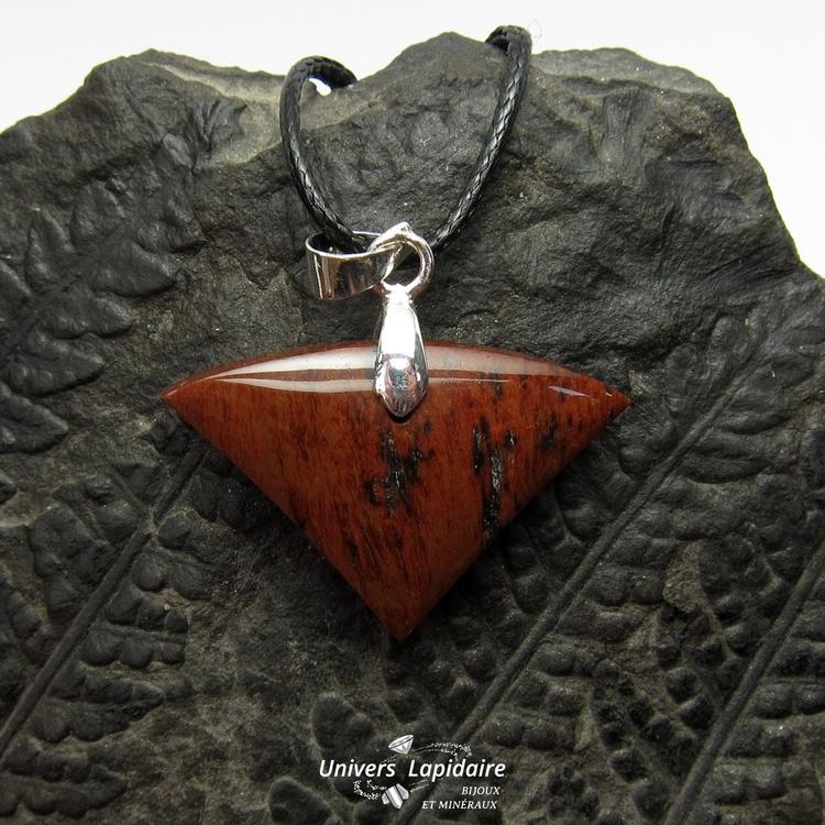 collier obsidienne acajou