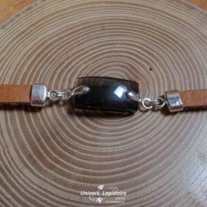 bracelet obsidienne fumée